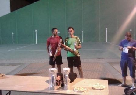 Diego Arellano y Ricardo de Blas ganan el II Torneo de Frontenis de Torrijos