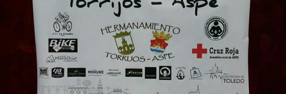 ¡! LLEGADA A ASPE DE LOS CICLISTAS QUE HAN REALIZADO LA PRIMERA RUTA DEL HERMANAMIENTO TORRIJOS-ASPE ¡!