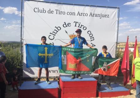 """Mario Sánchez, del Club """"Arqueros de Pedro I"""" se sube al pódium en el Campeonato de España de Aranjuez"""