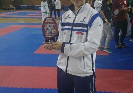 """Ainara Gómez-Hidalgo, subcampeona en el I Torneo Internacional de Kárate """"Ciudad de Málaga-Costa del Sol"""""""
