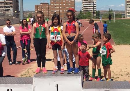 Bruno Piña y Ángela Cuñarro, de la Escuela Deportiva Municipal de Atletismo, logran el oro y la plata en el Provincial