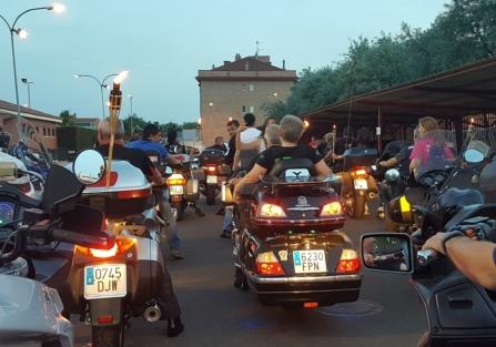 Numeroso público participó en la IX Concentración Motera