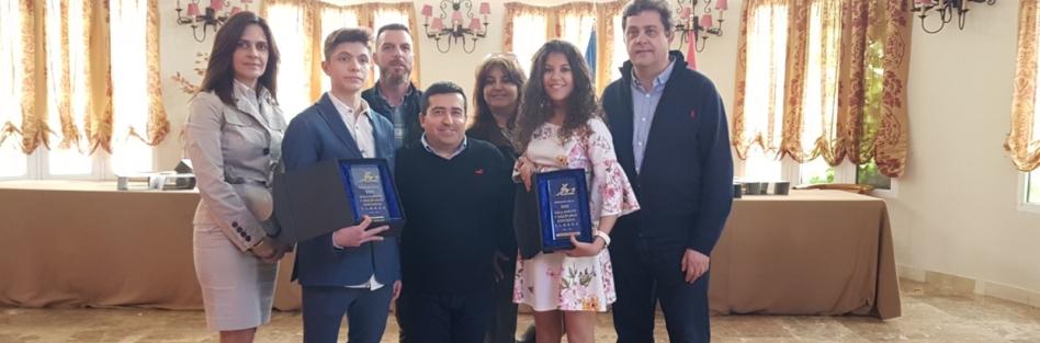 Anabel Palomo y David Molina, reconocidos en la Gala de Kárate de la federación