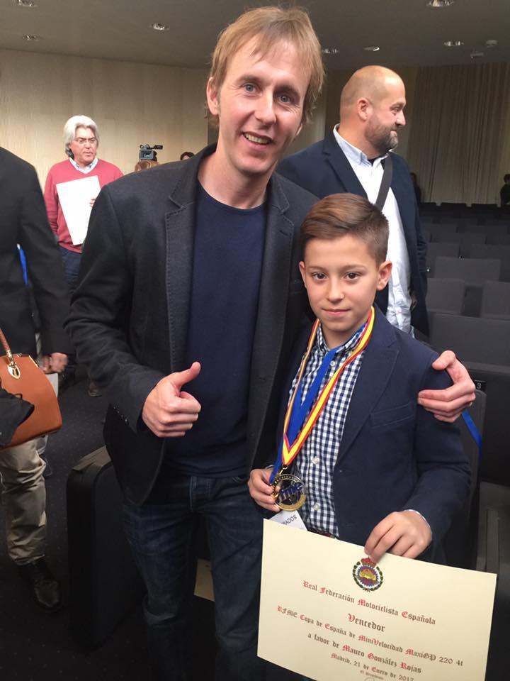 Mauro González es recibido en el Ayuntamiento de Torrijos tras proclamarse campeón de España