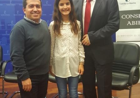 """La torrijeña Noemí Aguilar, campeona de España de pádel, en la campaña """"Mis valores son tus valores"""""""