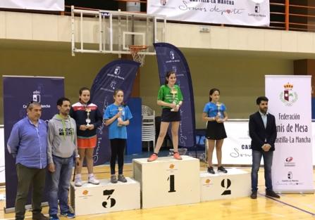 La torrijeña Daniela Ramos, del CD Torrijos Spin Tenis de Mesa, se proclama Campeona Regional