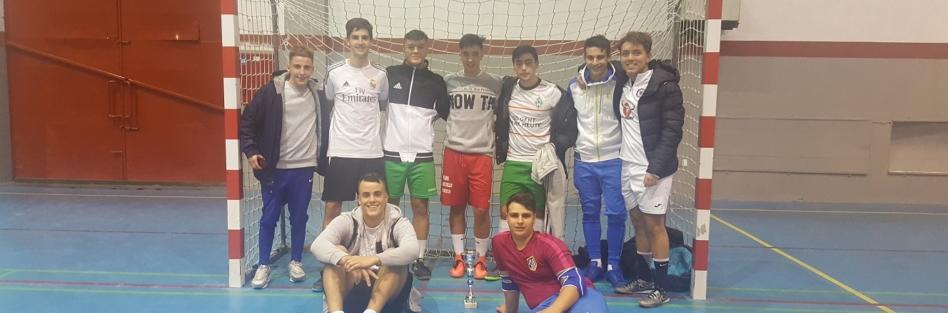 """El equipo """"Loramu"""", de Almorox, gana en Torrijos el IV Torneo Juvenil de Fútbol Sala de Navidad"""