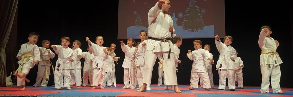 Un centenar de karatecas participa en la exhibición del Club de Kárate Loarce