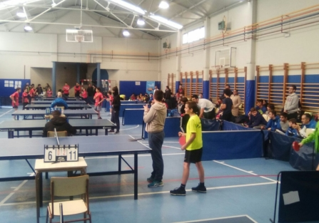 Daniela Ramos, subcampeona en la primera fase zonal escolar de tenis de mesa