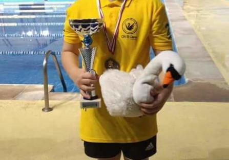 5 oros para el nadador torrijeño Lucas Pérez