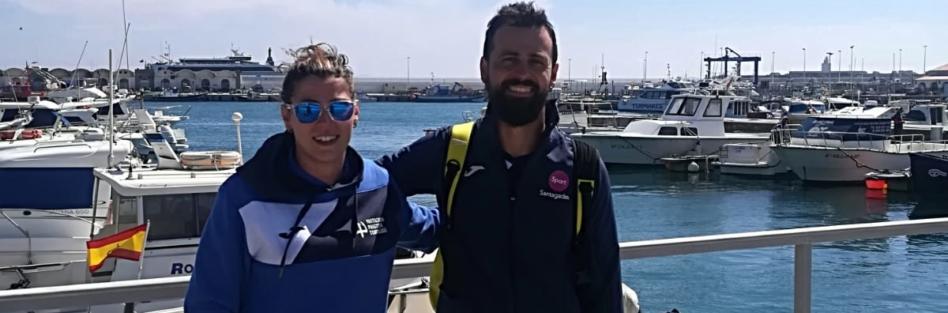 Ana Mancera y Santiago Rojas primeros nadadores que cruzan el Estrecho de Gibraltar en 2019