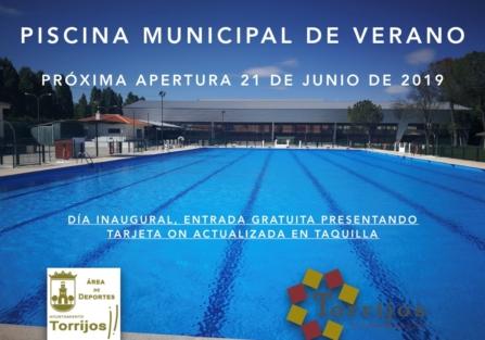 Próxima apertura del a Piscina Municipal de Verano