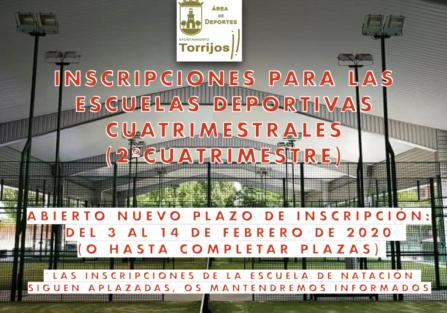 INSCRIPCIONES EN LAS ESCUELAS DEPORTIVAS